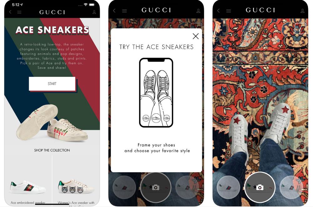 Campagne en AR de Gucci et Snapchat